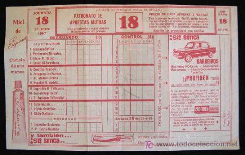 Old football Quiniela